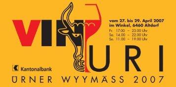 URNER WYYMASS 2007 - Wyyparadiesli
