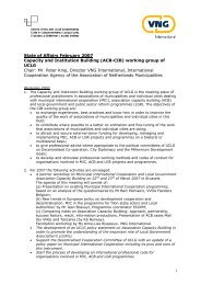 Objectives and Work Programme 2007 - UCLG