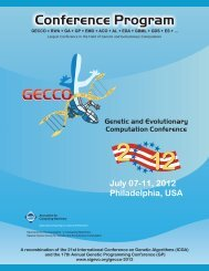 Genetic and Evolutionary Computation Conference 2012 - SigEVO