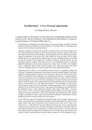 Ian Blanchard – A Very Personal Appreciation - Franz Steiner Verlag