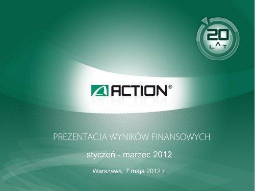 wyniki finansowe - Action S.A.