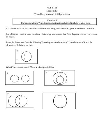 Set Operations And Venn Diagrams Wiring Diagrams Schematics