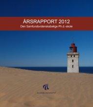 ÅRSRAPPORT 2012 - Det Samfundsvidenskabelige Fakultet