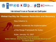 Global Facility for Disaster Reduction and Recovery ...