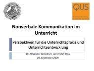 Nonverbale Kommunikation im Unterricht - QUS