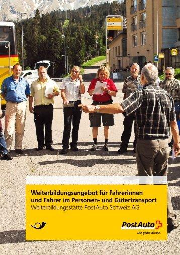 Weiterbildungsangebot für Fahrerinnen und Fahrer im ... - Postauto