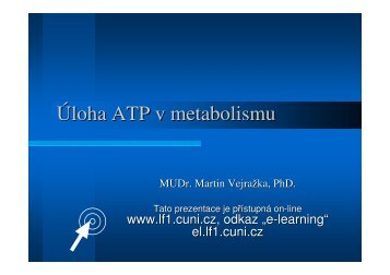 Úloha ATP v metabolismu