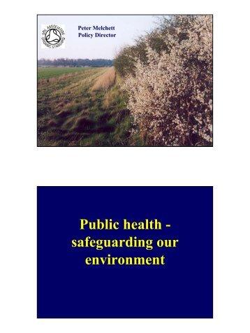 Public Health Safeguarding - Associate Parliamentary Food and ...