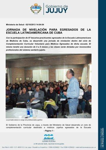 JORNADA DE NIVELACIÓN PARA EGRESADOS DE LA ESCUELA ...