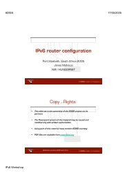 IPv6 router configuration - 6Diss