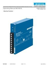 Operating Manual MU1001K - Ziehl industrie-elektronik GmbH + Co ...