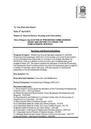 Homelessness Grants report PDF 122 KB - Meetings, agendas, and ...