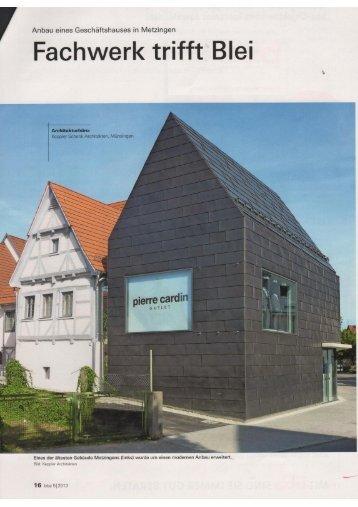 bba - bau beratung architektur, Ausgabe 5/2013 - Röhr+Stolberg ...