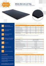Scarica la scheda tecnica BISOL BSO 245-257 Wp - Guida Edilizia