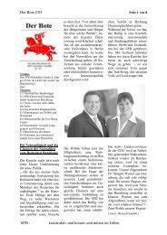 Der Bote 02/05 - des SPD-Ortsvereins in Harsefeld