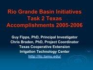 Rio Grande Basin Initiatives Task 2 Texas Accomplishments 2005 ...