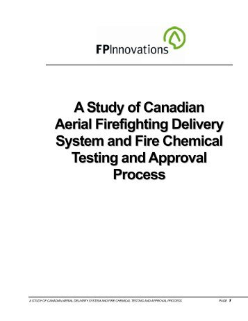 A Study of Canadian Aerial Firefighting Delivery System and Fire ...