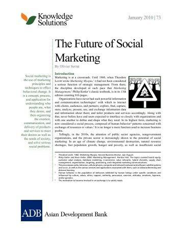 The Future of Social Marketing