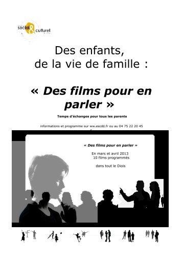 Programme des projections mars et avril 2013 - ESCDD