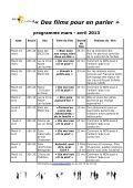 Programme des projections mars et avril 2013 - ESCDD - Page 2