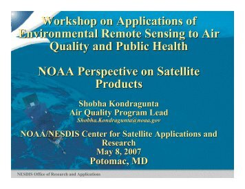 NOAA's Perspective on Satellite Products - NASA