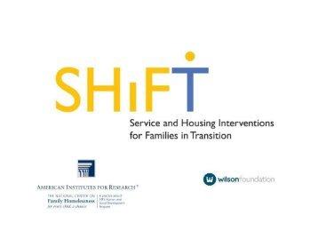 shift study - National Center on Family Homelessness