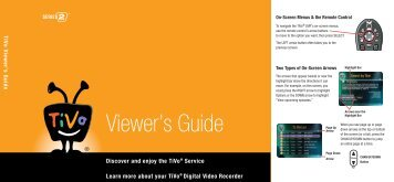 Viewer's Guide - TiVo