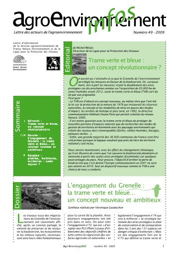 "lettre ""Agro Environnement infos"""