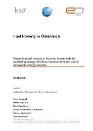 Fuel Poverty in Österreich - e7 - Energie Markt Analyse