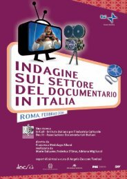 Sintesi dell'Indagine sul settore del Documentario in Italia - Key4biz