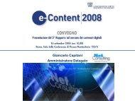 I contenuti del 3° Rapporto e-Content 2008 - Anica