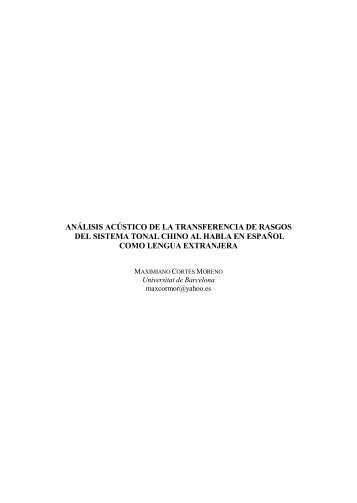 análisis acústico de la transferencia de rasgos del sistema ... - RACO