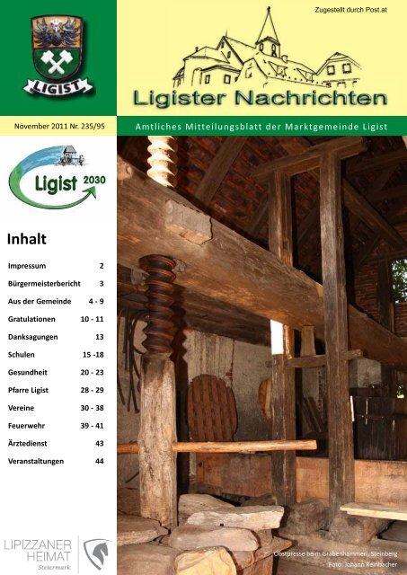 Ligister Nachrichten November 2011