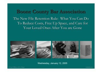 Powerpoint Slides in PDF format - Boone County Bar Association