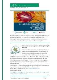 Mellannorrlands hospice ger ut ny utbildningskatalog för kurser 2011