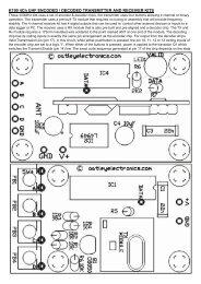 K190 4Ch UHF ENCODED / DECODED ... - Oatley Electronics