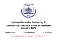 Unbiased Recursive Partitioning II: A Parametric Framework Based ...