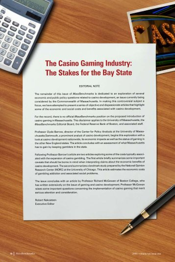 The Casino Gaming Industry - University of Massachusetts Dartmouth