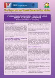 What Benefits exist for Tanzania within East African Common Market ...