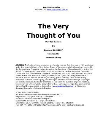 The Very Thought of You - Gustavo Ott