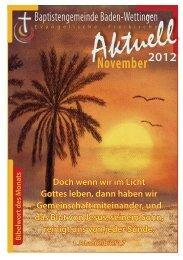 Aktuell November 2012 - Baptistengemeinde Baden-Wettingen