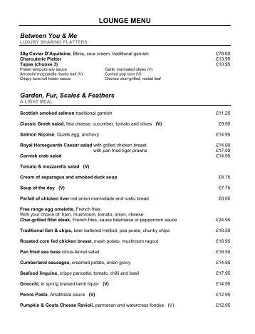 Download a sample food menu (pdf)