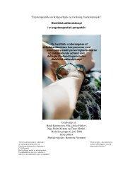 Ergoterapeutisk udviklingsarbejde og forskning, bachelorprojekt ...