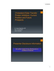 Cholesterol Ester Transfer Protein Inhibitors: Current Position and ...