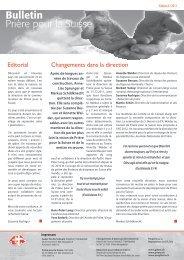 Editorial Changements dans la direction - Gebet für die Schweiz