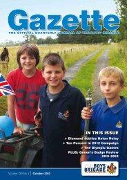 October 2012 - The Boys' Brigade