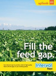 Sow Interval rape to provide a bulk of high quality feed to fill the ...