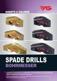spade drill inserts - carbide(k20) - YG-1