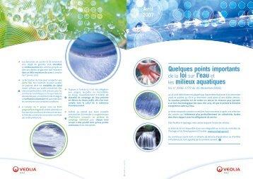 Loi sur l'eau - Veolia Eau Réunion