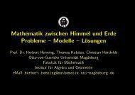 Mathematik zwischen Himmel und Erde Probleme – Modelle ...